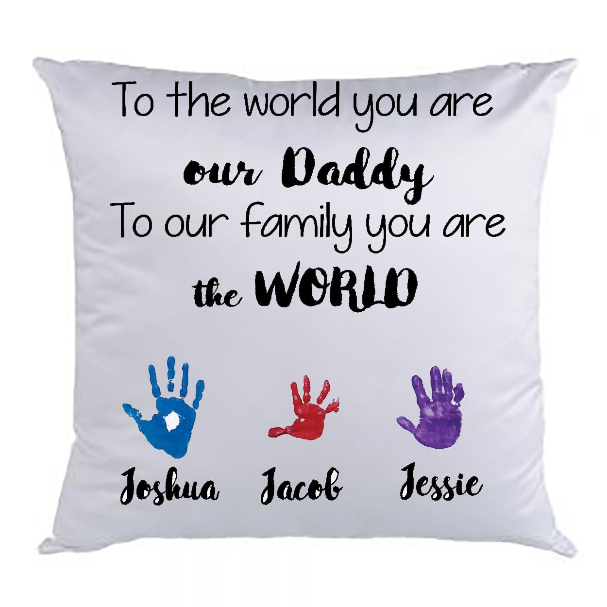 kids hand feet print pillow case hugs mugs more