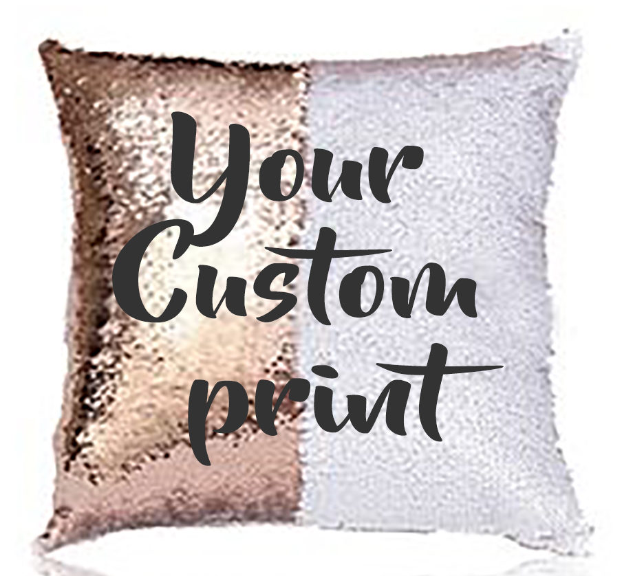 Custom Print Flip Sequin Pillow Case Hugs Mugs More